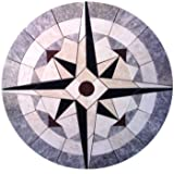 Permalink to Tile Floor Medallion Marble Mosaic Compass Star Design 36