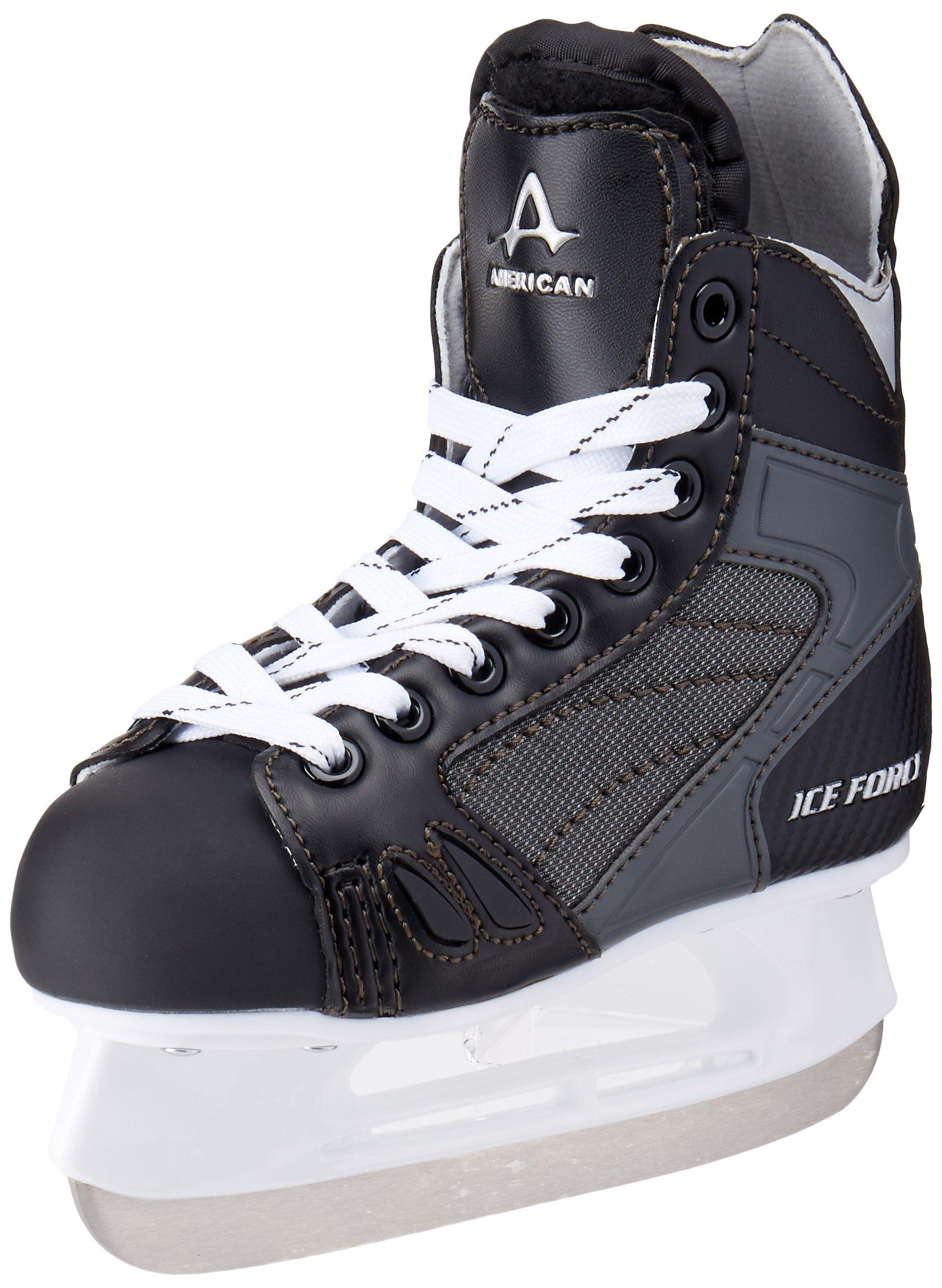 American Athletic Shoe Boy's Ice Force Hockey Skates, Black, 10 Y