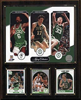 product image for NBA Boston Celtics Bird-Havlicek-Russell Legacy Collection Plaque, 12 x 15-Inch, Brown