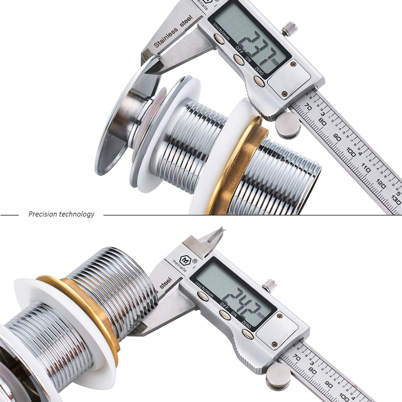 Ablaufventil Ablaufgarnitur POP UP f/ür Waschtisch//Waschbecken verchromt POP UP ohne /Überlauf