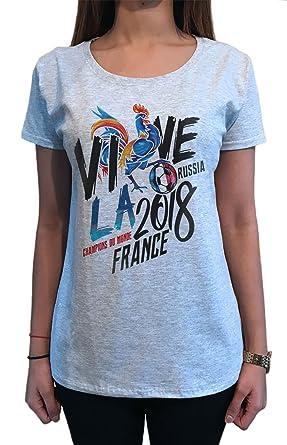 Amazon Com Women S T Shirt Champions Du Monde Vive La France World