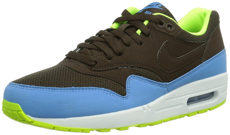 Nike Air Max 1 Essential 537383_Anderes Leder Herren Low-Top Sneaker  445 EU|Braun (Braun/Gelb)