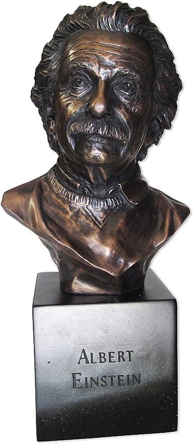 Design Toscano Albert Einstein Cast Iron Sculptural Bust