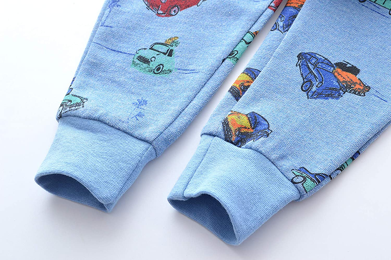 height110-120cm//42-46inch 6T , Blue /& Car HUAER/& Baby Boy Car Print Pants Drawstring Elastic Sweatpants