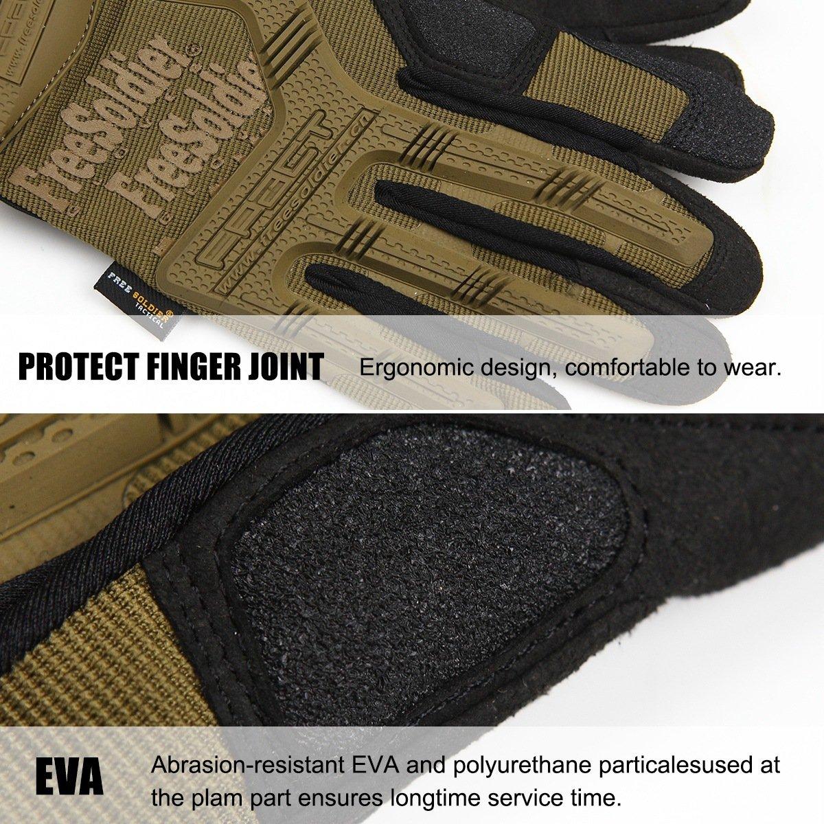 FREE SOLDIER Guantes de Moto para Hombre Verano Guantes T/ácticos Militares Ideal para Motocross Ciclismo Airsoft Combate Alpinismo Guantes