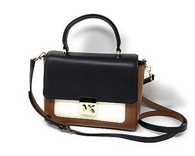 6c4e07bf8ce8a9 Amazon.com: Michael Kors Mindy Cross Body Luggage Black Optic White: Shoes