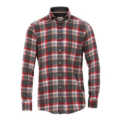 Casa Moda Flanellhemd grau-rot-gelb kariert Übergröße, XL Größe 3XL ... 95f77c56c1
