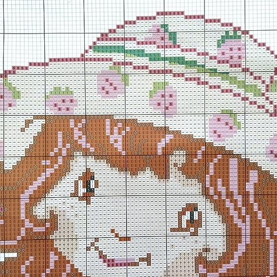 Stickpackung Kreuzstich Kissen F30013 Emily Erdbeere 46x46 cm DIY ...
