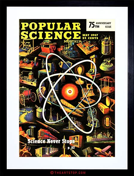 amazon com science magazine popular atom invention cool framed