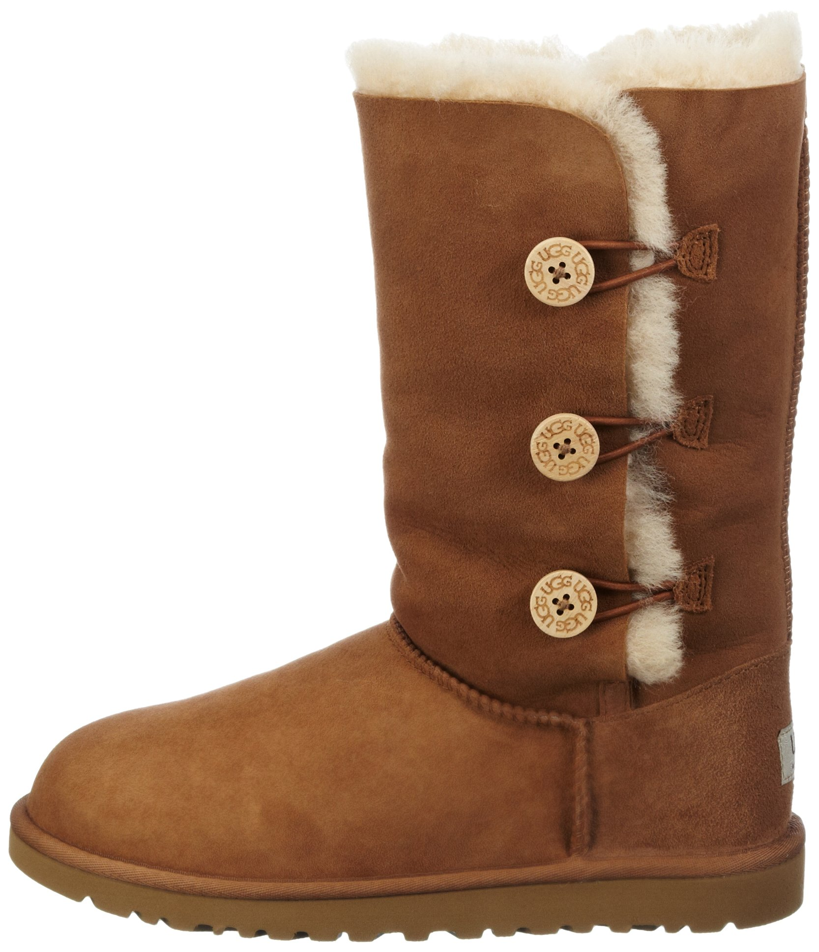 Kid's UGG Bailey Button Triplet chestnut size 4 us by UGG (Image #5)