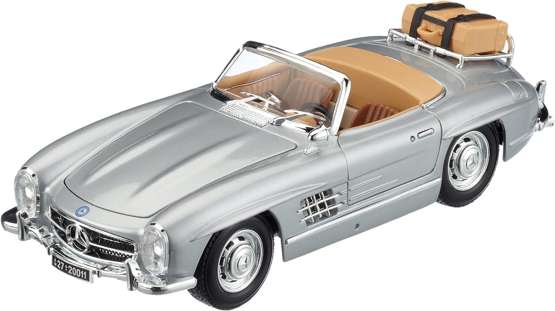 1957 Mercedes-Benz 300 SL Convertible Silver Bburago 12049 1//18 Scale Diecast