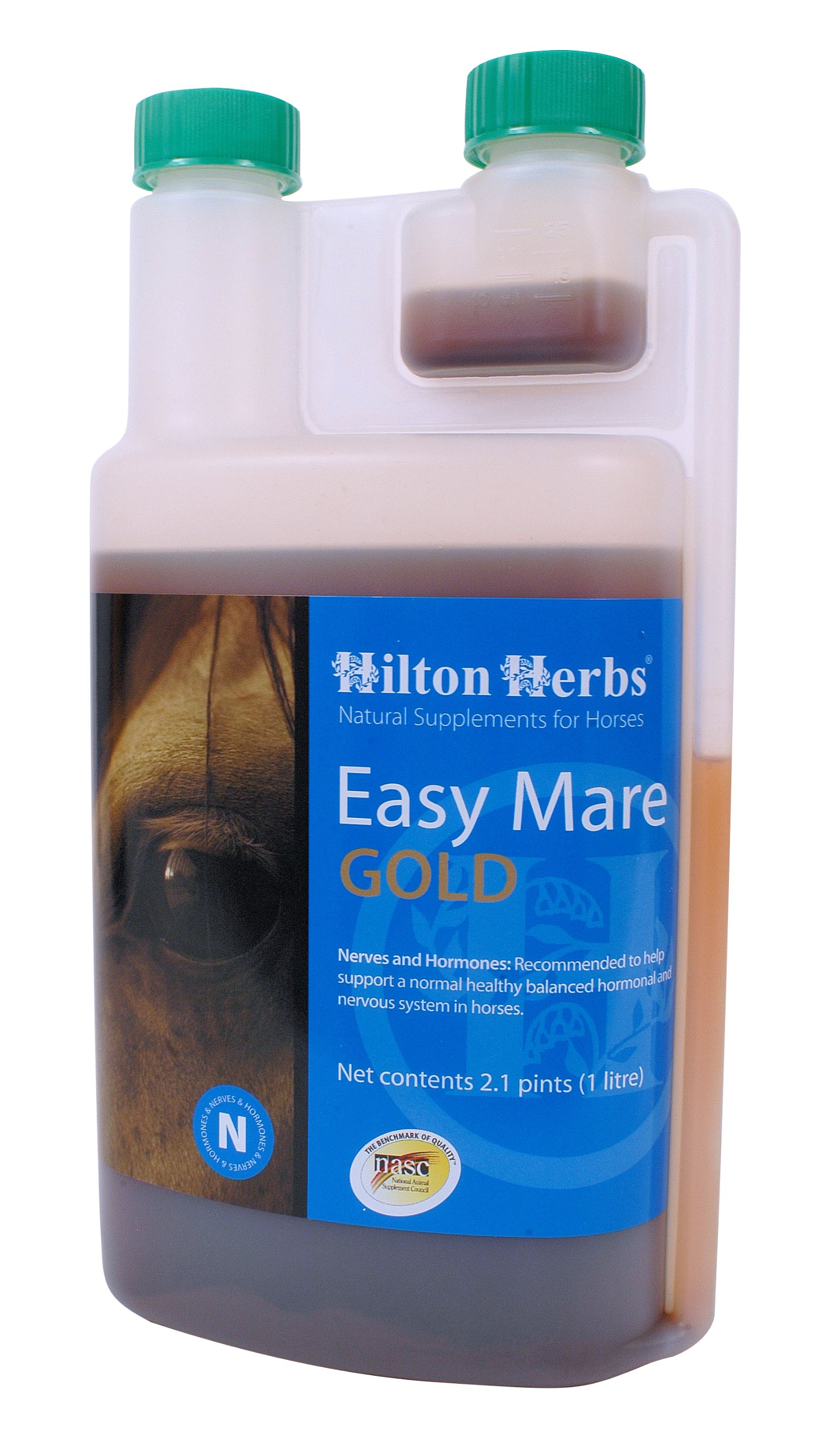 Hilton Herbs Easy Mare Gold Hormone Balancing Liquid Supplement for Horses, 2.1pt Bottle by Hilton Herbs