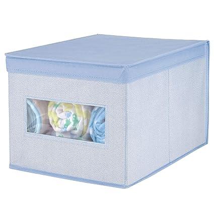 MetroDecor mDesign Caja con Tapa apilable para Armario, Dormitorio y más – Organizador de Armario