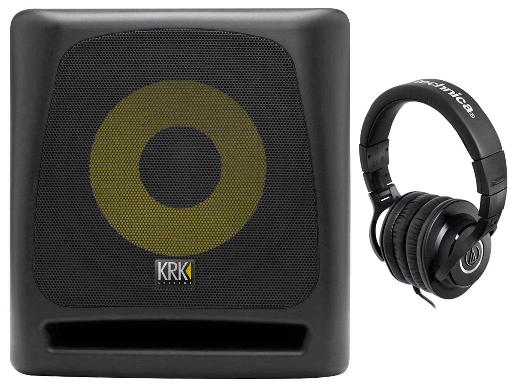 KRK 10S v2 10'' 150w Powered Studio Subwoofer w/Class A-B Amplifier + Headphones