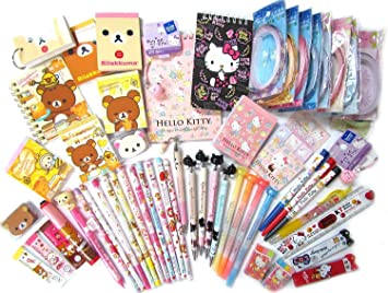 10 Of Assorted School Supply Stationary Set (10 Items Will Be Randomly Selected From The Image Shown) By San X by San X