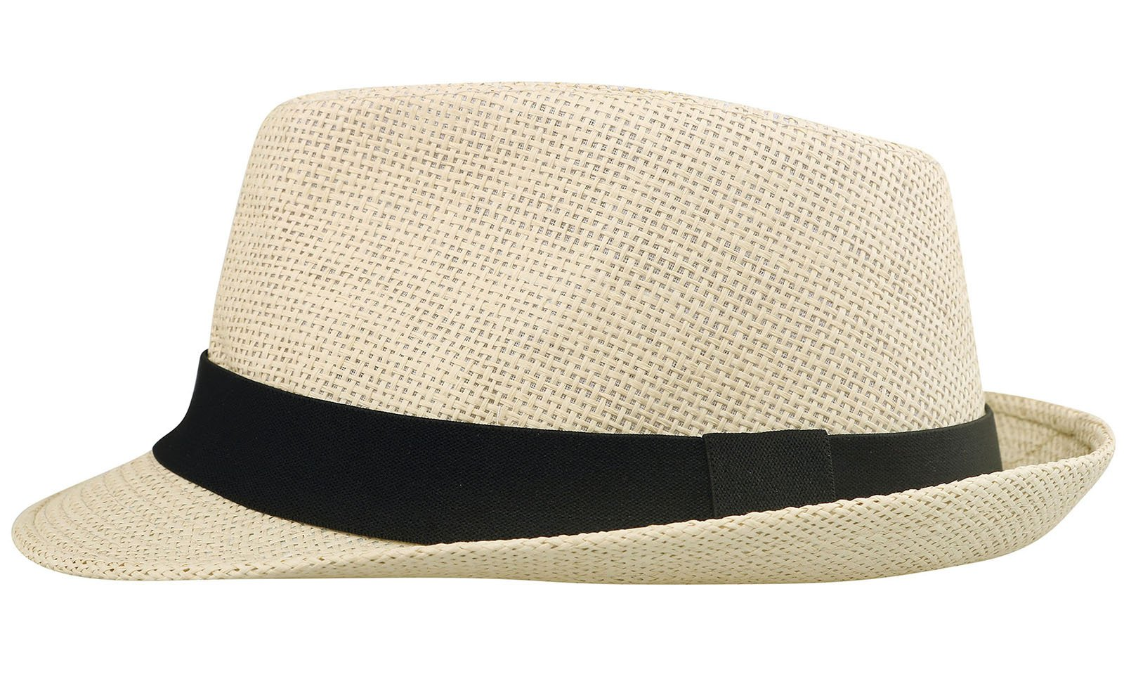 Lullaby Womens Mens Summer Short Brim Gangster Straw Fedora Hat Nature