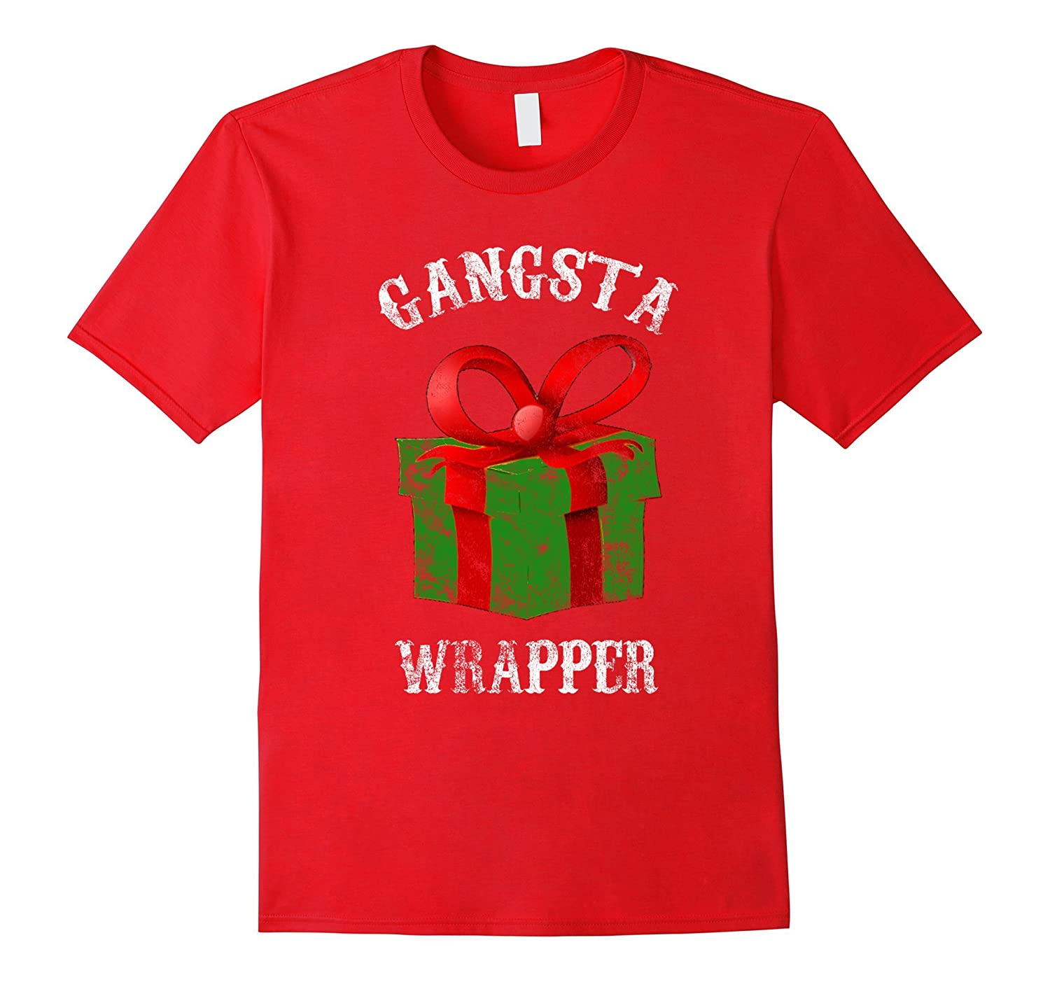 Gangsta Wrapper Novelty T-Shirt Funny Holiday Christmas Gift-ANZ