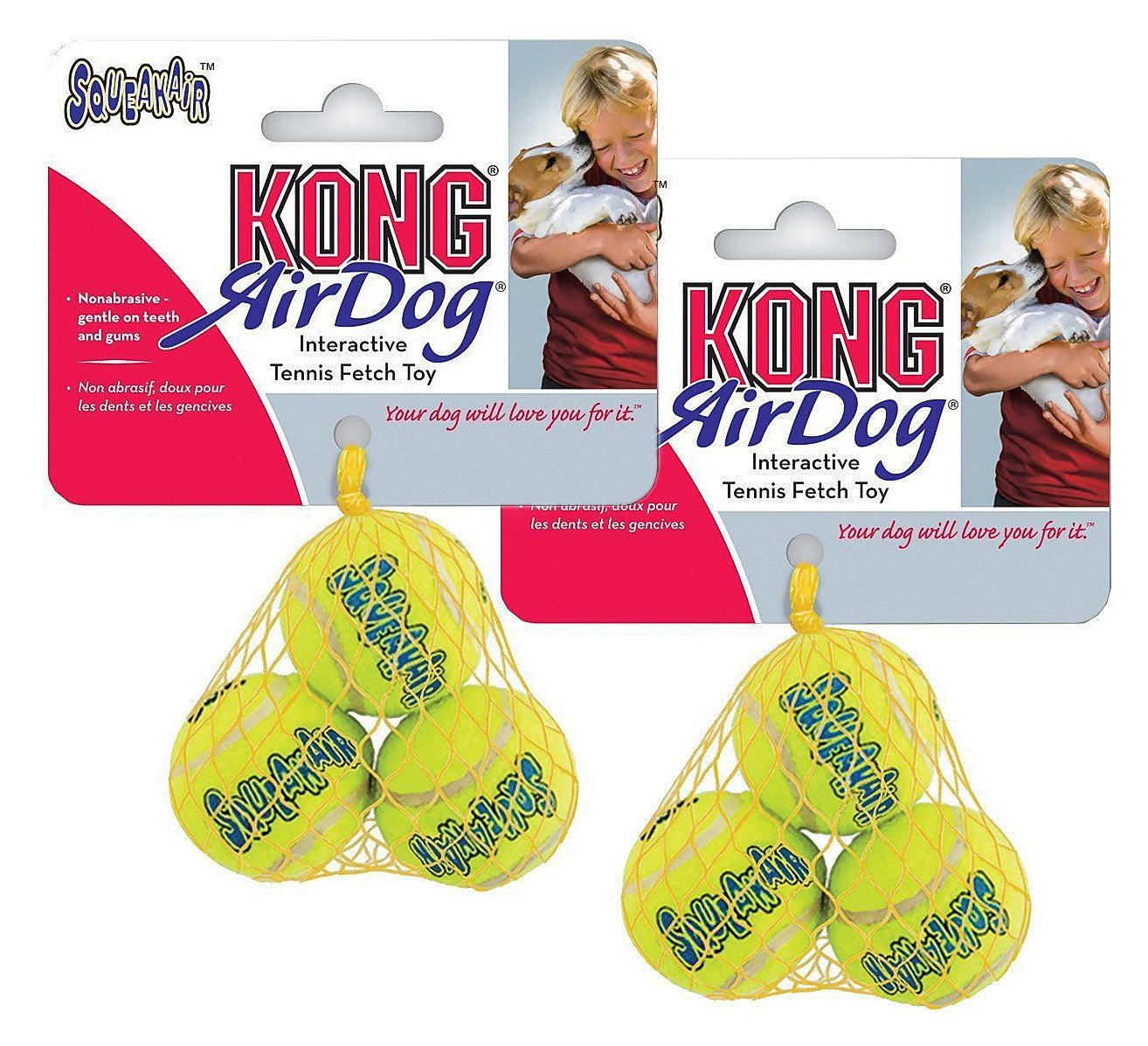Air Kong Squeaker Extra Small Tennis Ball - 6 Balls in total