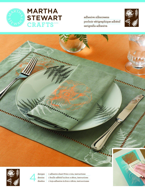 Martha Stewart Crafts Adhesive Silkscreen (8.5 by 11-Inch), 32929 4 Botanical Designs