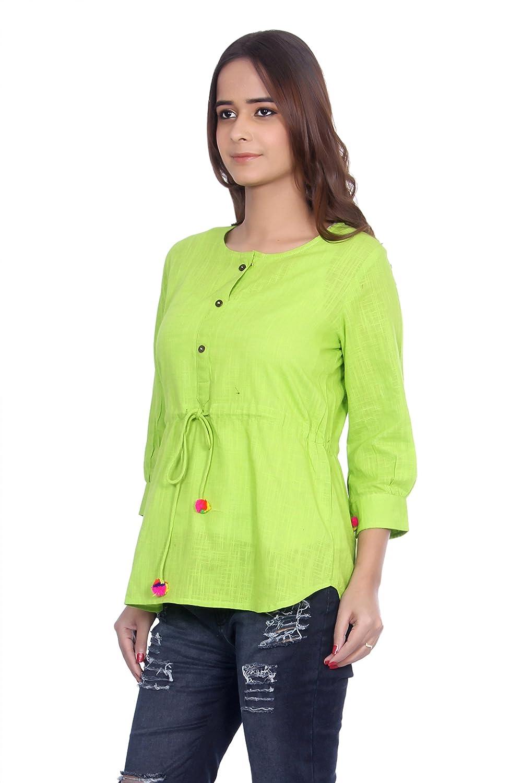 9de93572b7f172 Gmi Women S Green Tops  Amazon.in  Clothing   Accessories