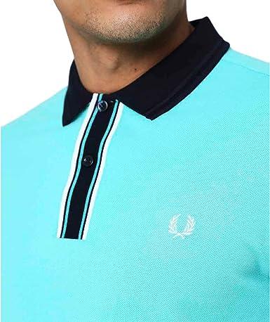 Fred Perry Hombres Camisa de Polo con Punta Placket Menta L: Amazon.es: Ropa y accesorios