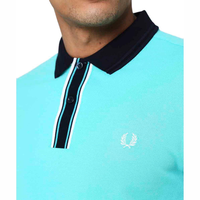 Fred Perry Hombres Camisa de Polo con Punta Placket Menta M ...