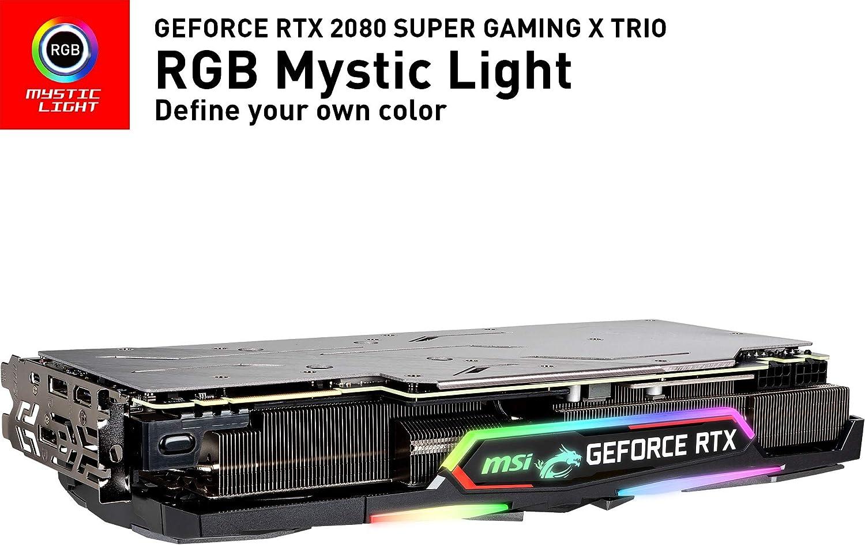 MSI Gaming GeForce RTX 2080 Super 8GB GDRR6 256-Bit HDMI/DP Nvlink Tri-Frozr Turing Architecture Overclocked Tarjeta gráfica (RTX 2080 Super Gaming X ...