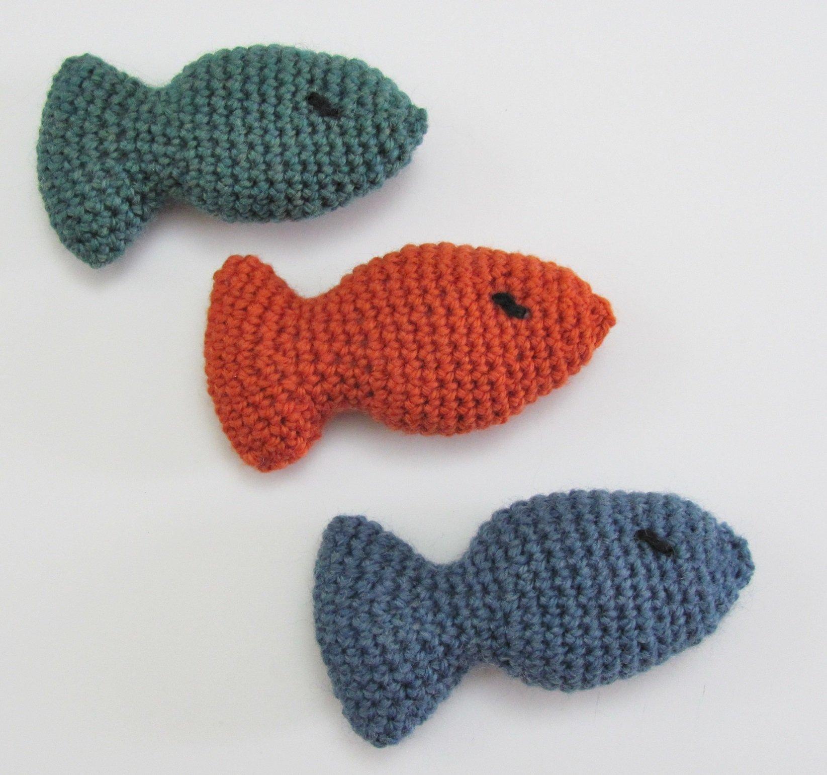 Handmade Cat Toy Fish, Choose Stuffed with Organic Catnip or No Catnip Added
