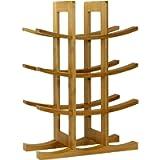 Oceanstar 12-Bottle Natural Bamboo Wine Rack