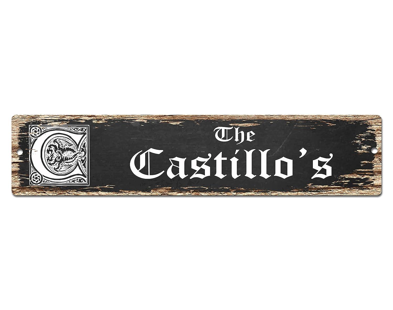 The Castillo 's Family Nameプレートサインヴィンテージ素朴なストリートサインビーチバーパブホーム部屋壁ドア装飾ギフトカフェレストランショップサイン B01DSITHS6 18585