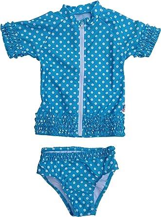 SwimZip Little Girl Sassy Surfer Rash Guard Swimsuit Set SZ115