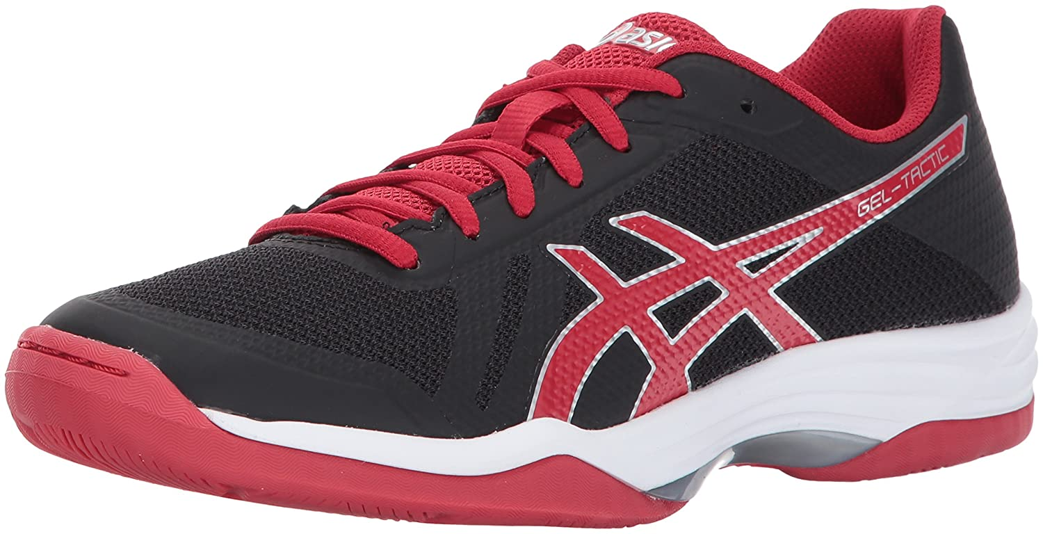 Black-Prime Red-Silver 10.5 B(M) US ASICS Womens Womens Gel-Tactic 2 Volleyball shoes