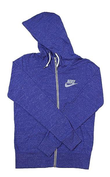 Nike para Mujer Gym Vintage Full Zip Sudadera con Capucha - 813872-455, Azul: Amazon.es: Deportes y aire libre