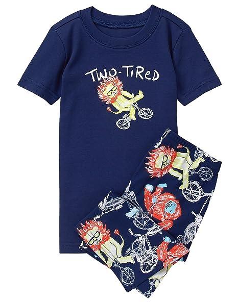 Amazon.com: Gymboree Boys 2 piezas Conjunto de pijama corto ...
