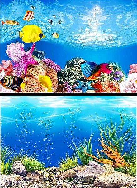 Acuario De Papel De Fondo Pintura HD Imagen 3D Tanque De Pescado Wallpaper Doble Cara Acuario
