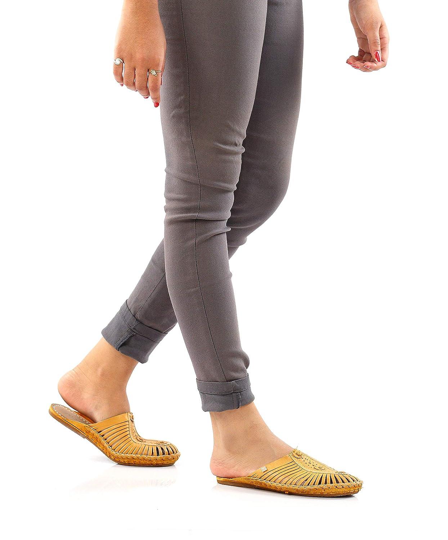 Elegant Leather Slip Ons | Tan: Handmade