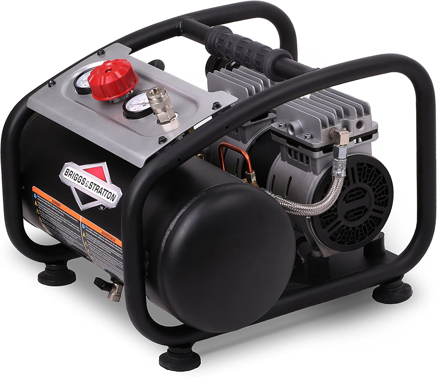Briggs Stratton 3-Gallon Quiet Power Technology Air Compressor 074027-00