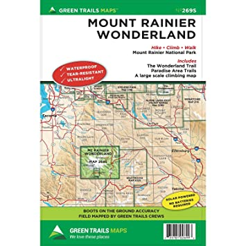Green Trails Maps, Mount Rainier Wonderland 269SQ: Amazon.co.uk ...