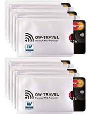 ✅ Custodie Blocco RFID - ANTI FRODE - La Protezione di Carte di Credito/Debito e di Identità per Portafogli Passaporto - Isolamento Chip Contactless RFID e Radio NFC (Protectores Tarjeta 10)