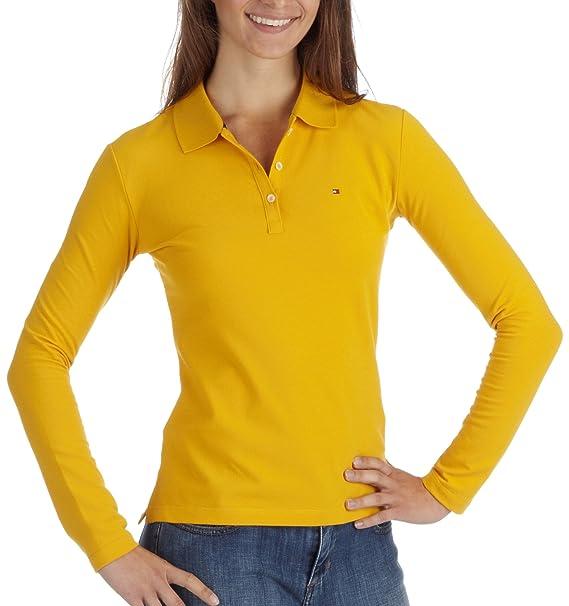 Tommy Hilfiger - Camiseta con Cuello de Polo para Mujer, Talla 38 ...
