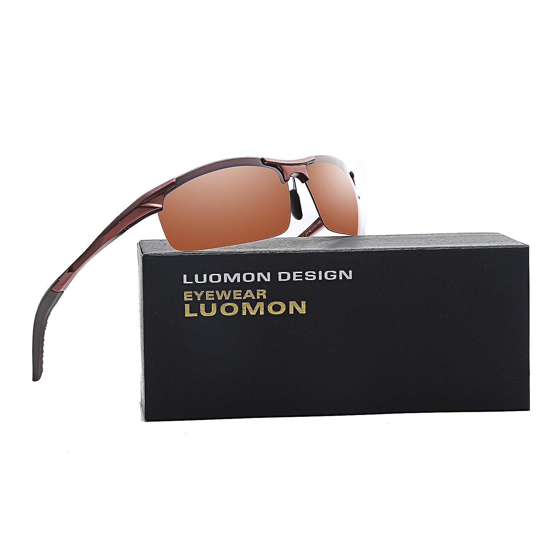 LUOMON LM8177 66mm Polarized Wrap-Around Sport Sunglasses