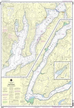 Amazon Noaa Chart 18476 Puget Sound Hood Canal And Dabob Bay