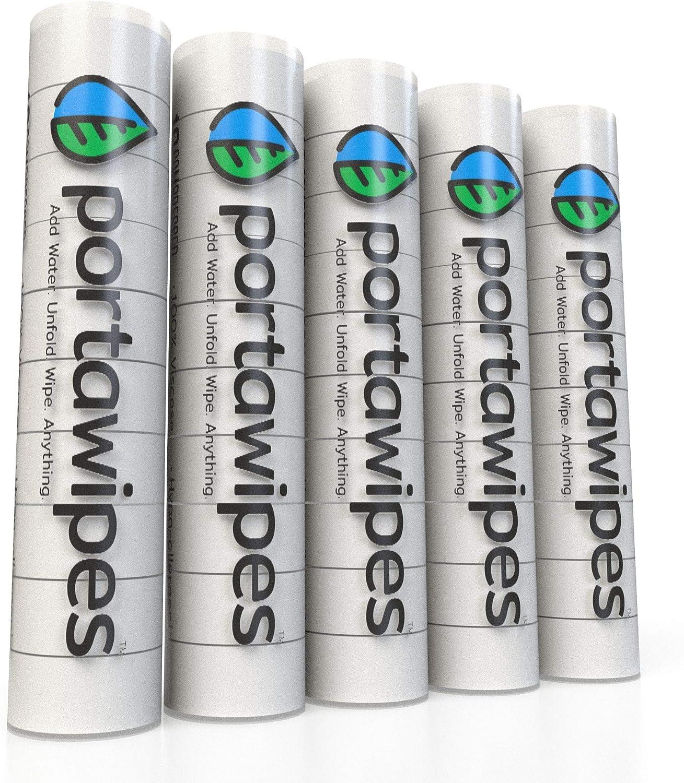 Pañuelos de papel higiénico comprimido Portawipes, 50 unidades con ...