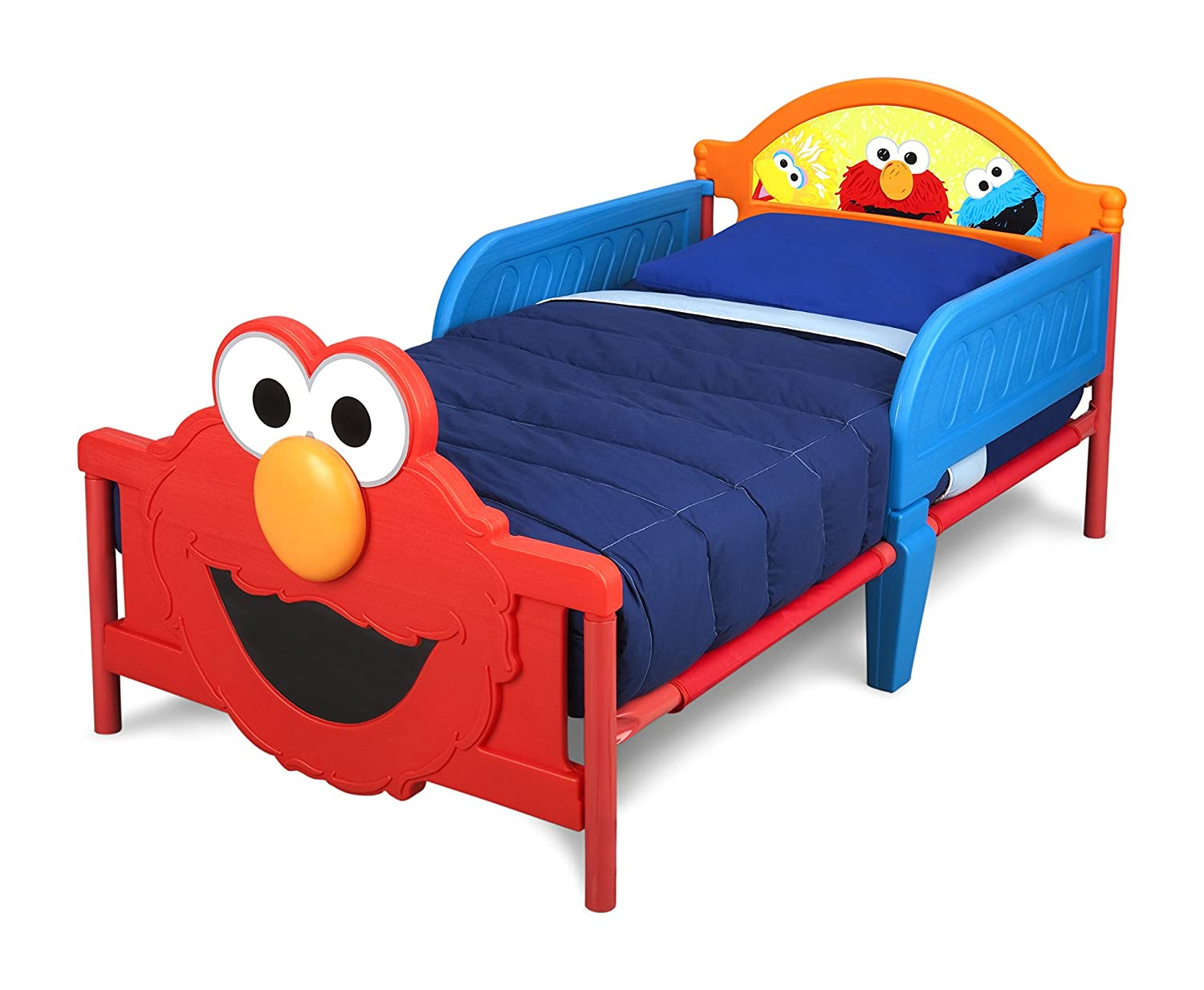 Amazon.com : Delta Children 3D Footboard Toddler Bed, Sesame Street :  Childrens Furniture : Baby