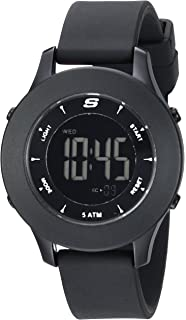 Skechers Womens Rosencrans Digi Quartz Plastic and Silicone Digital Watch Color: Black (Model: