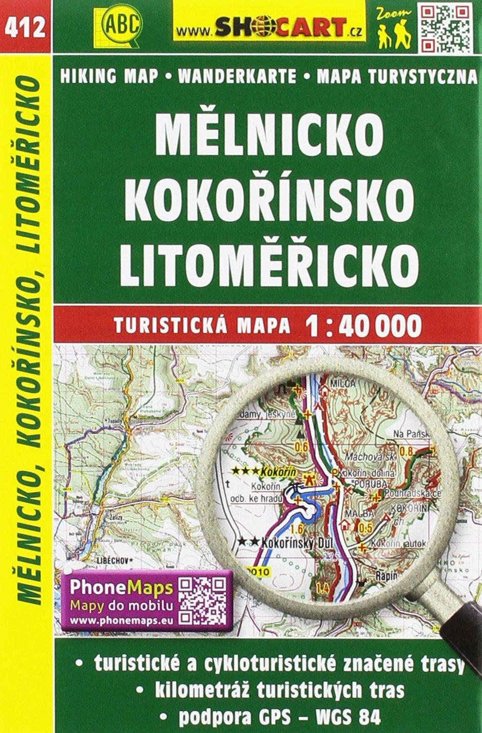Wanderkarte Tschechien Melnicko, Kokorinsko, Litomericko 1 : 40 000: Turisticke Mapy Cesko
