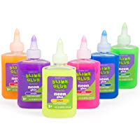 Maddie Rae's Slime Making NEON Glue - (6) 4oz Bottles, 6 Different Colors, Immediate...
