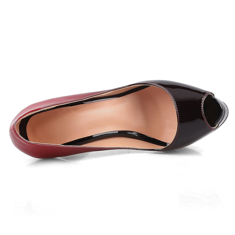 Chris-T Damen Slip on High Heels Peep Toe Stiletto Plattform Größe Pumps Größe Plattform 35-45 - 93cc30
