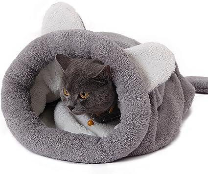 Amazon.com: Saco de dormir calentito para gato, 20 x 22 ...
