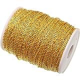 ILOVEDIY 5 Meter Metallkette Gliederkette Golden 2mm Kabelkette Link Kette zum Basteln Schmuckherstellung